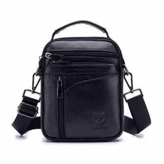 Мужская кожаная сумка ArtX Captain 077 черная