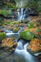 Autumnal Wharnley Burn Waterfall