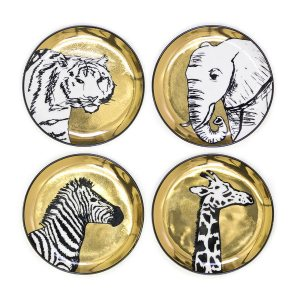 jonathan-adler-set-4-sous-verres-coasters-porcelaine-animal-artydandy