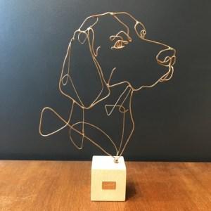profilo-sculpture-fil-de-bronze-chien-braque-de-weimar-artydandy
