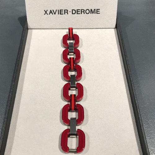 xavier-derome-bracelet-acetate-rouge-intense-artydandy