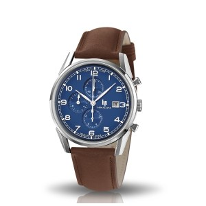 Lip-montre-himalaya-40-mm-chronographe-cadran-bleu-artydandy