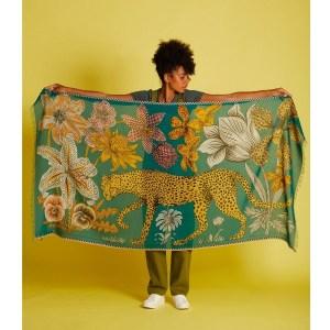 inouitoosh-foulard-vert-emeraude-en-coton-leopard-fleurs-ete-2021-artydandy