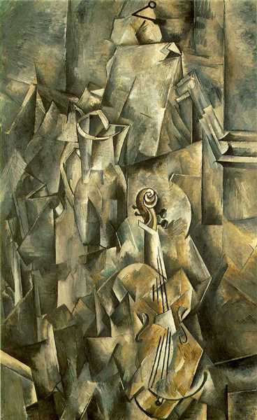 GEORGES BRAQUE (1882-1963) 'Violin and Pitcher', 1910 (oil on canvas)