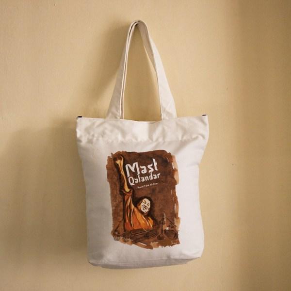 Mast Qalandar Bag (White)