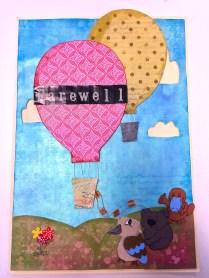 Hot Air Balloons Farewell Card