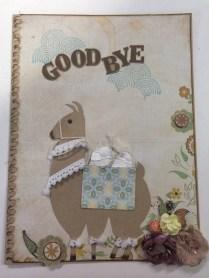 Llama Goodbye Card