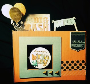 The Front of the Happy 18th Spin box popup card