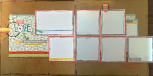 CTMH Zoe Double Page Layout Flip Flap Open
