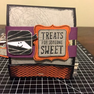 CTMH Nevermore Paper Pack & Trick or Treat Sweets Halloween Matchbook Treat Holder featuring the Mummy
