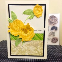 Beloved Bouquet - January 2016 Stamp of the Month : Yellow Rose For You