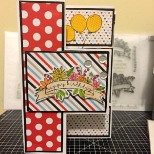 CTMH Magical Tri Shutter Card using Enjoy the Ride & A Bunch of Love stamp set. www.maz.ctmh.com.au