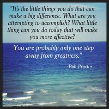 bob proctor little things