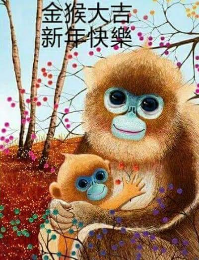 monkey year hug