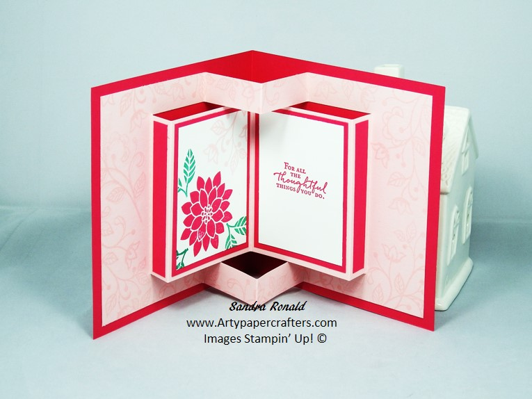 Pop Up Book Greetings Card Stampin Up Arty Paper
