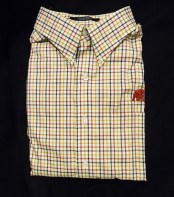 Plaid Button Down Shirt with Monogrammed Elephant