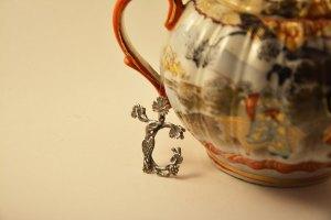 Armenian Handmade Silver Pendant Letter Sh