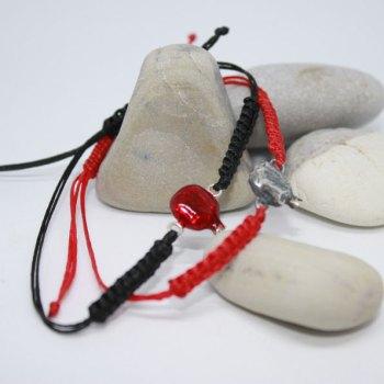 Handmade Silver Sterling Enamel Bracelet with Pomegranate