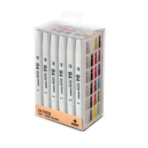 Graphic Marker Set of 24 Grey