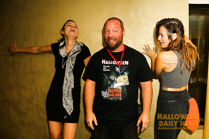 Kristina Klebe and Scout Taylor-Compton with HDN's Matt Artz