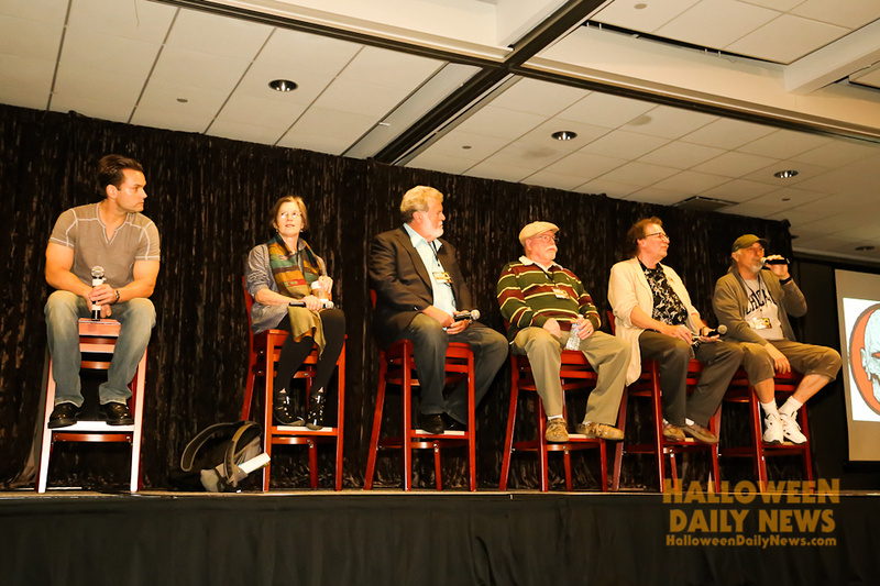 Will Sandin, Nancy (Loomis) Kyes, Dean Cundey, Charles Cyphers, Tommy Lee Wallace, and Nick Castle