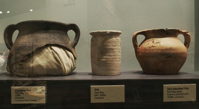 Red Bayn aurkitutako zeramika, St. Johns-eko museoan.