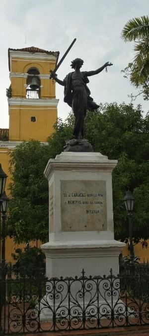 Salavarrietaren estatua. Mompox.
