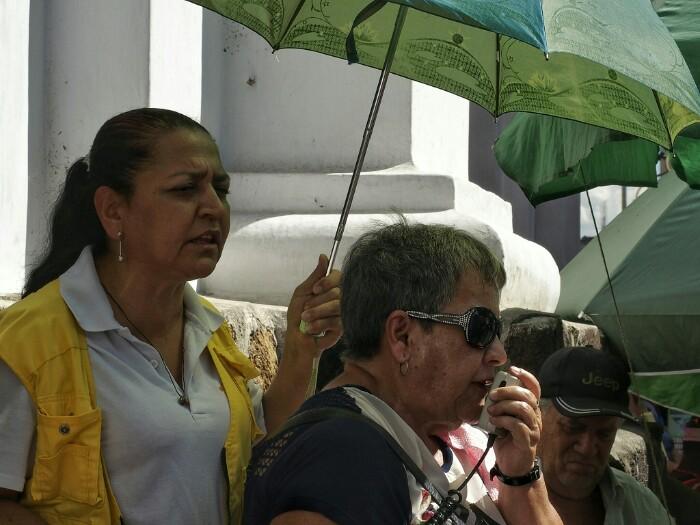 """Candelariako Amen ostiraleko """"plantoia"""". Medellin."""