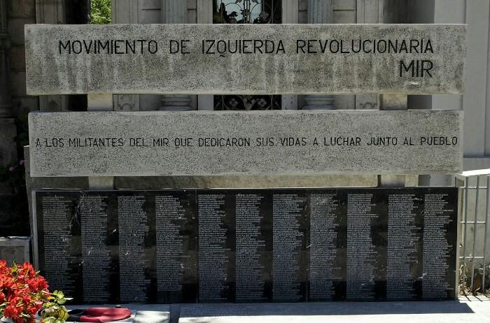 MIRekoen hilobi nagusia. Santiago, Txile.