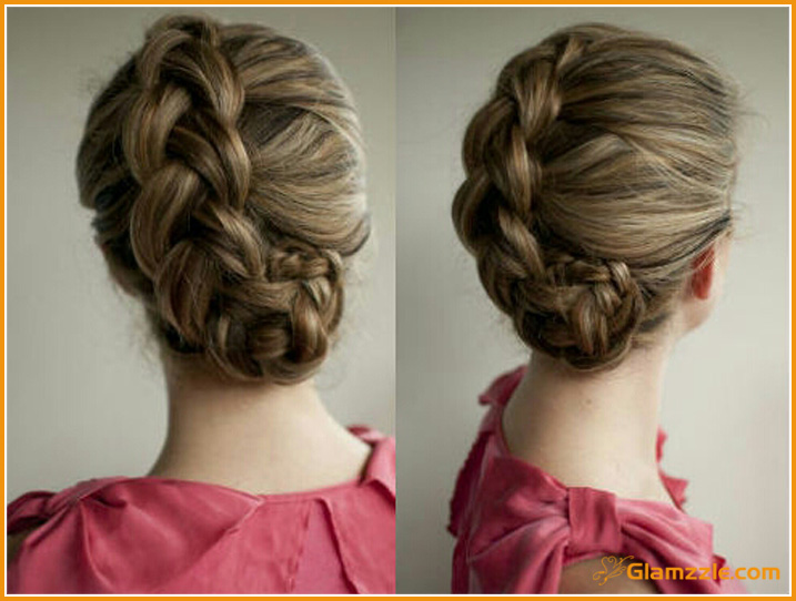 30 Beautiful Braided Tutorials   artzycreations com dutch braid rolled into flower bun