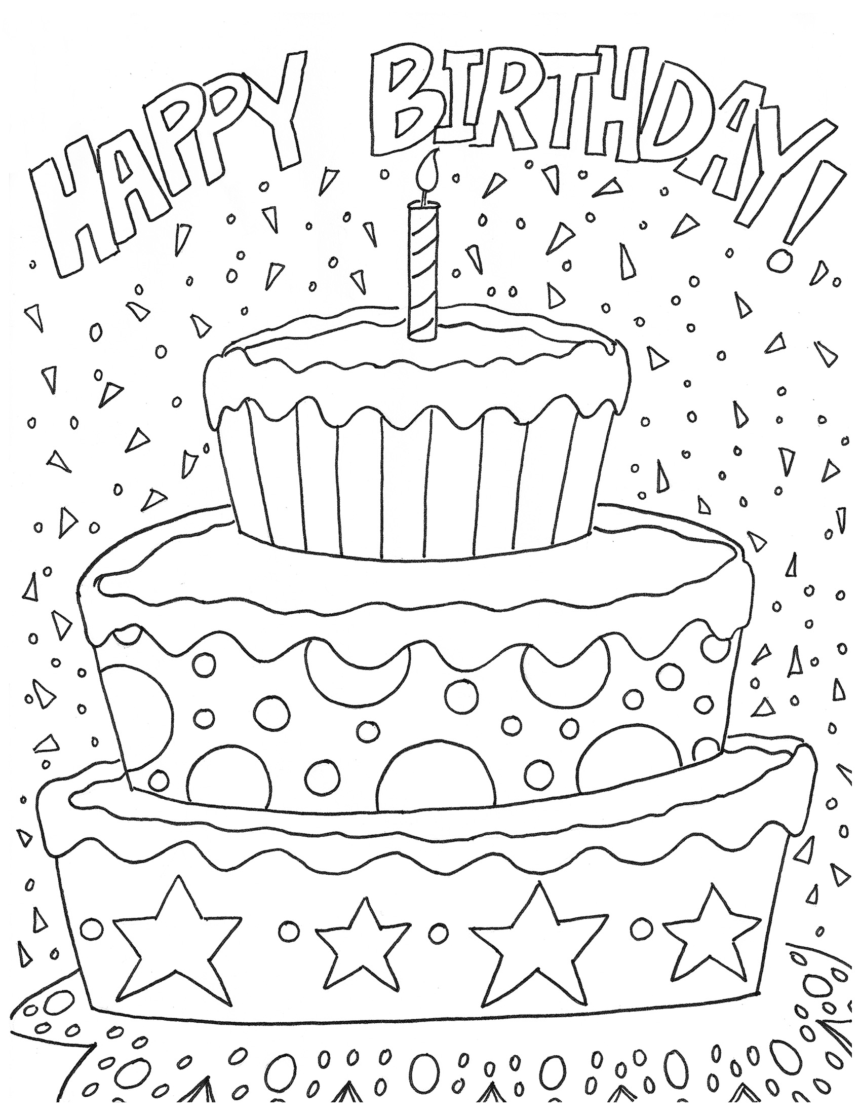 Free Happy Birthday Coloring Page And Hershey