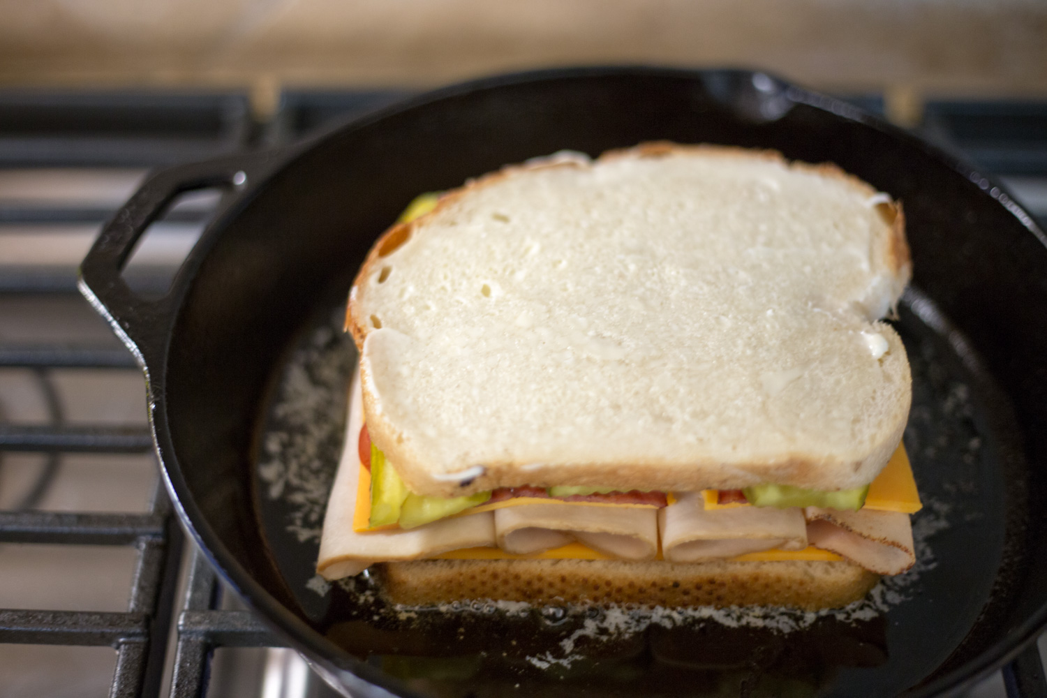 Try this super tasty totally tempting toasted sandwich and you'll never use butter to toast your sandwich again!