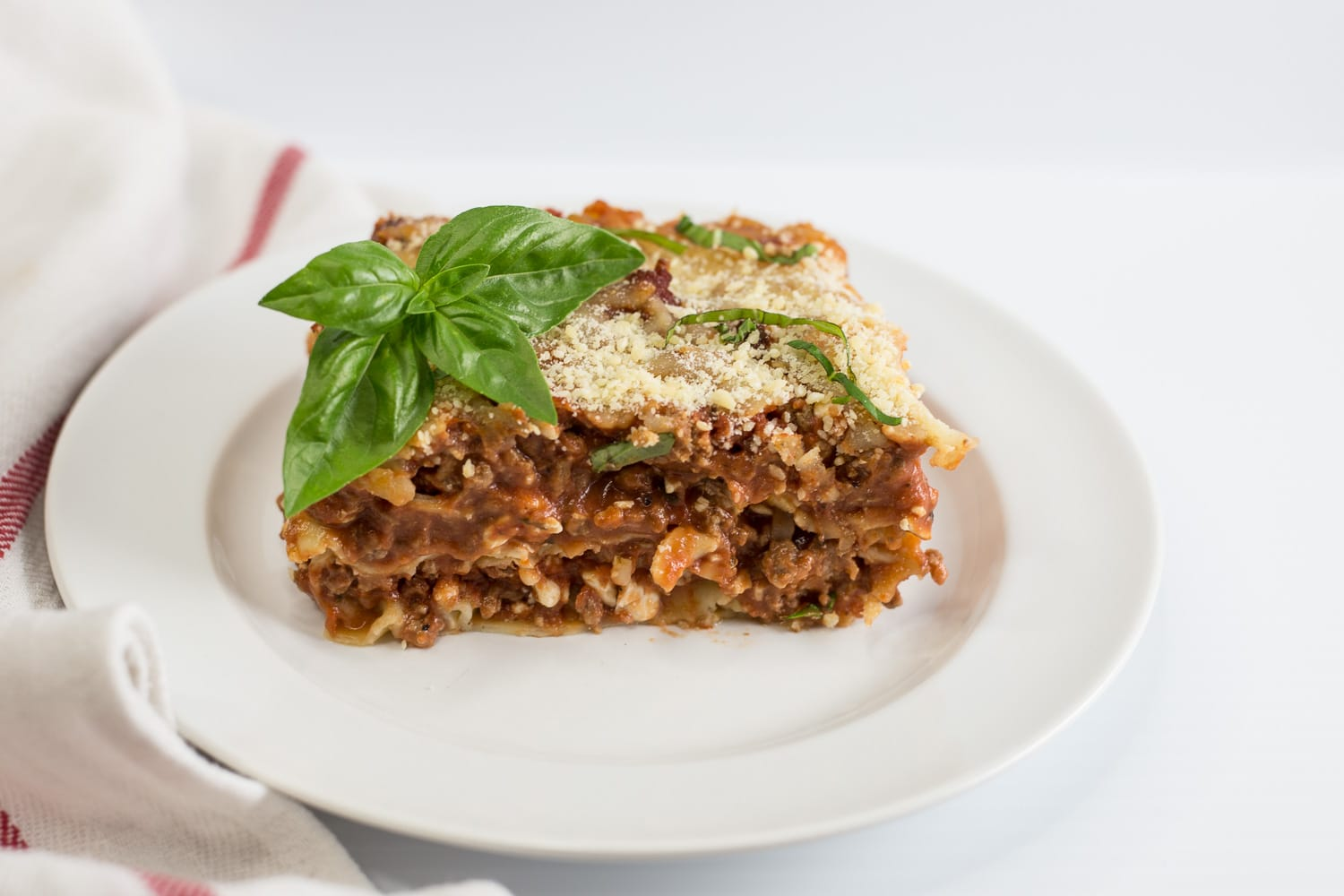This lasagne is a make-ahead meal for an entire crowd that is fit for a king!