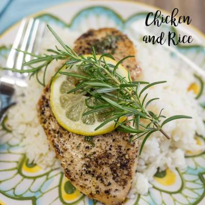 Chicken and Rice with Herbed Truffle Butter