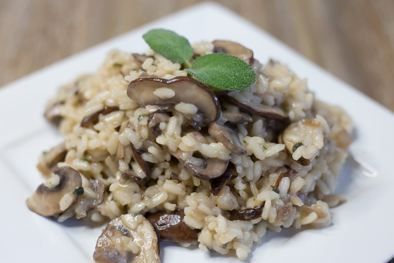 Mushroom marsala risotto was inspired by marsala chicken. All the flavors of marsala chicken in a risotto!
