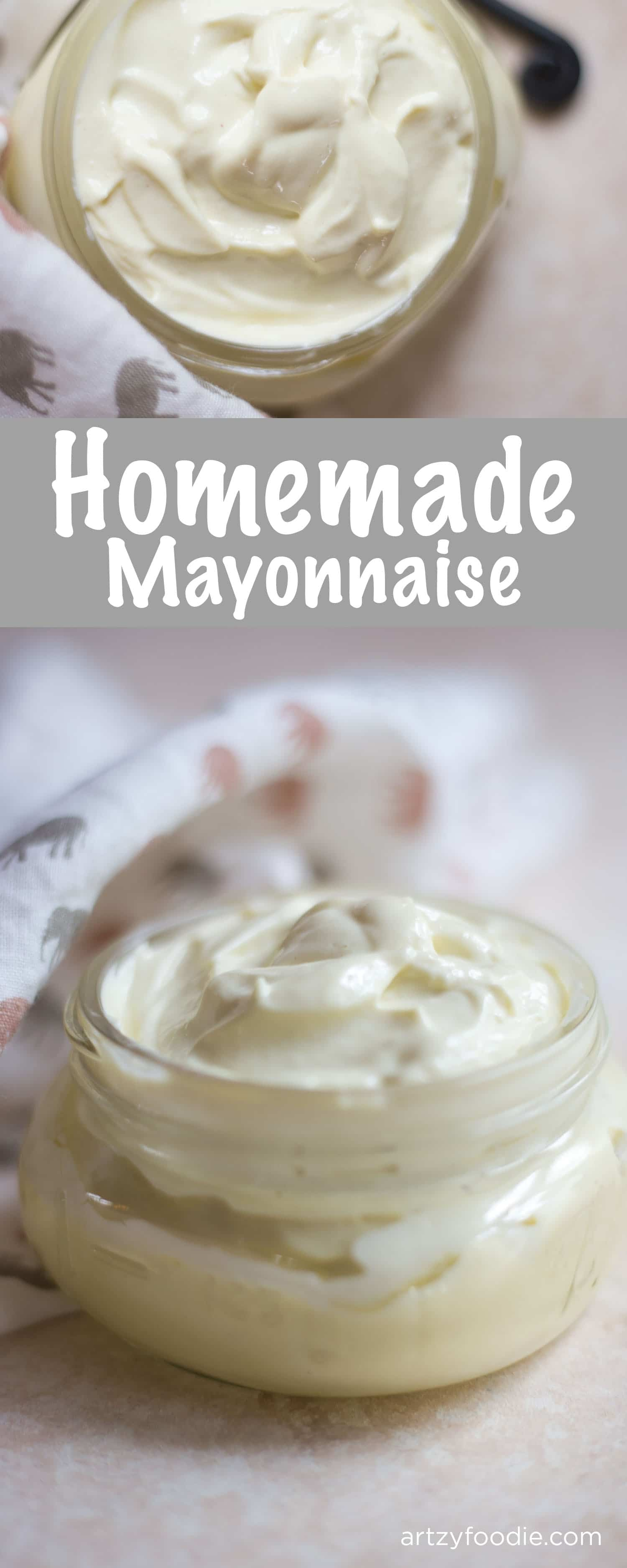 Homemade mayonnaise is surprisingly simple and oh so tasty! |artzyfoodie.com|