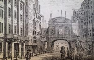 Fleet street in the 18th Century