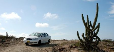 Aruba Car Rentals   Aruba TravelGuide com A rental car on the hill at the National Park