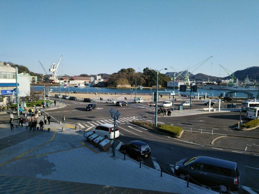 尾道駅からの眺め