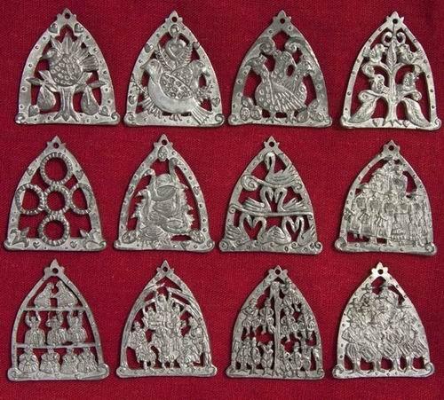 12 Days Of Christmas Tree Decorations Uk