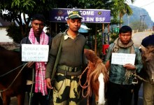 Photo of BSF nabbed two BD cattle smuggler