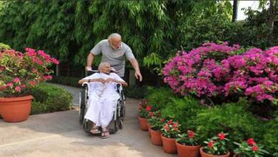 Photo of Modi's Mother Heeraben visited 7RCR for the First Time