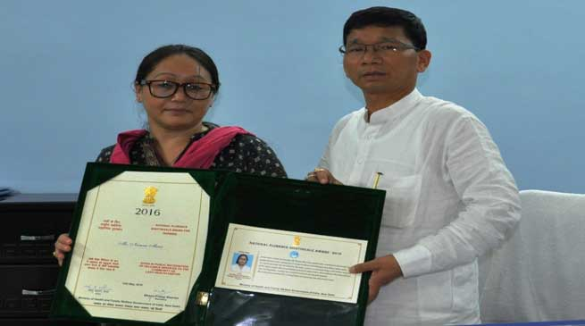 Pul Announced a Cash Award of Rs 3 lakhs to Namne Mena