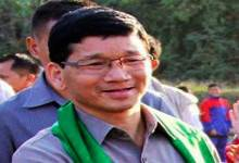 Arunachal CM Kalikho Pul Addresses Poll rally in Chubam village