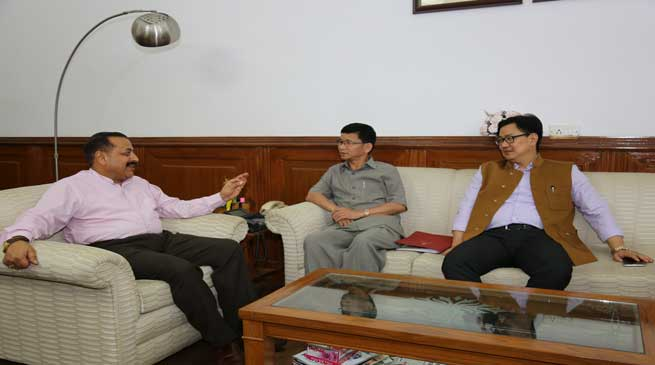 Chief Minister Kalikho Pul calls on DONER Minister Jitendra Singh