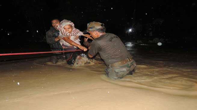 Fresh Floods in Diyun Circle Rendered 56 Families Homeless
