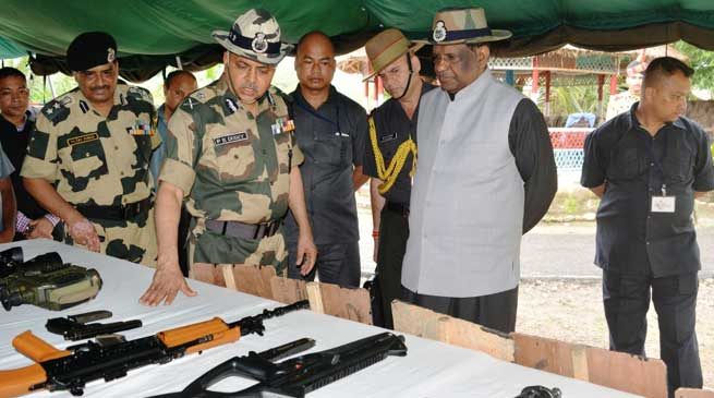 Meghalaya's Governor visits BSF'S Out Post Shella