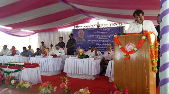Prabhu Lays Foundation Stone of Imphal Railway Station