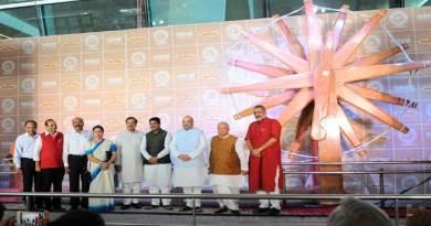 World's Largest Charkha unveiled at IGI Airport