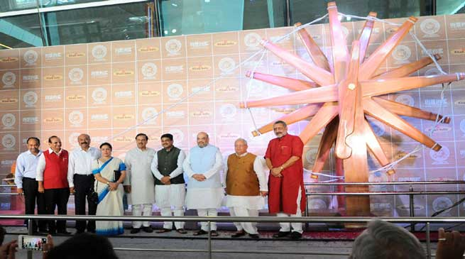 World's Largest Charkha unveiled at IGI Airport
